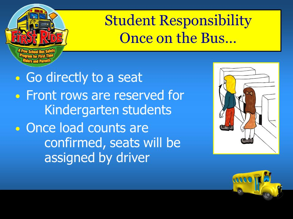 Student Responsibility Once on the Bus…