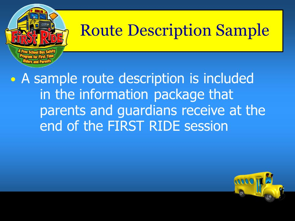 Route Description Sample