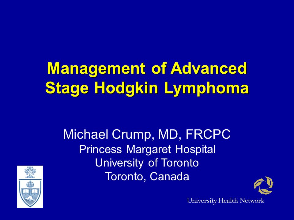 Management of Advanced Stage Hodgkin Lymphoma