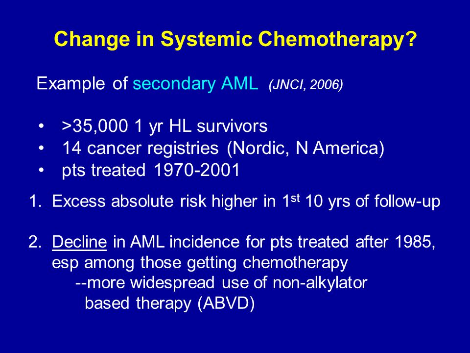 Change in Systemic Chemotherapy