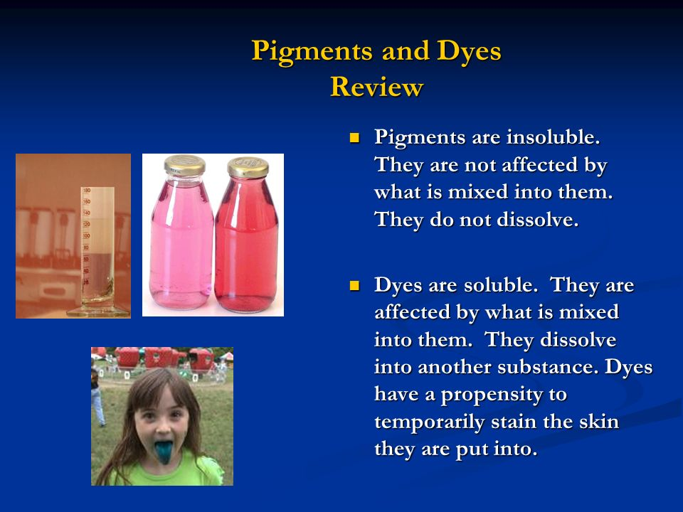 Pigments and Dyes Review