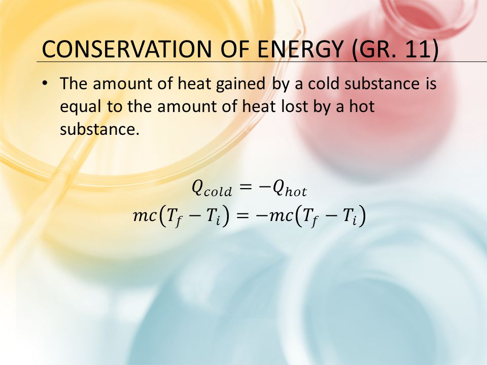 Conservation of Energy (Gr. 11)
