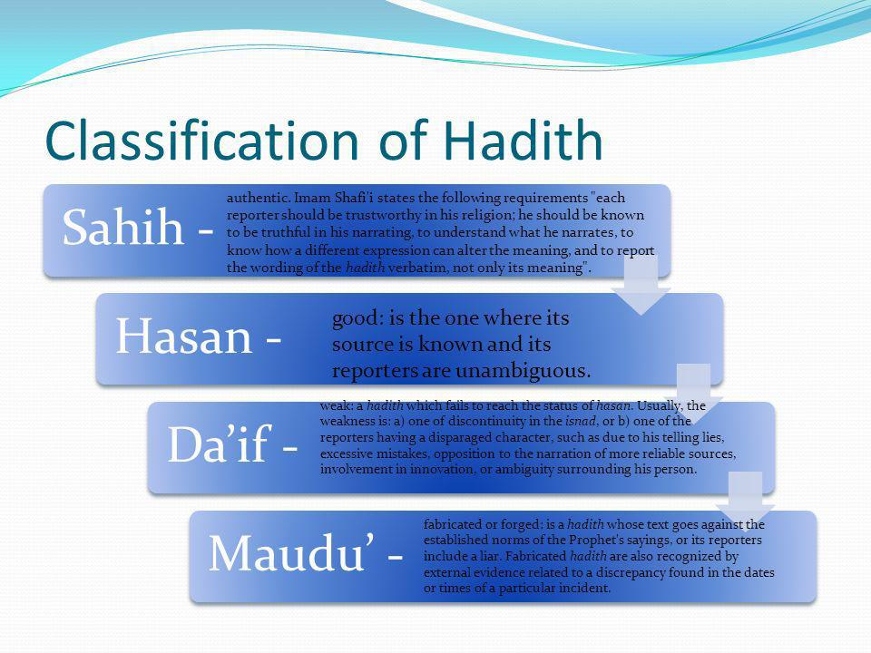 Classification of Hadith