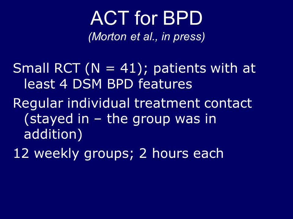 ACT for BPD (Morton et al., in press)