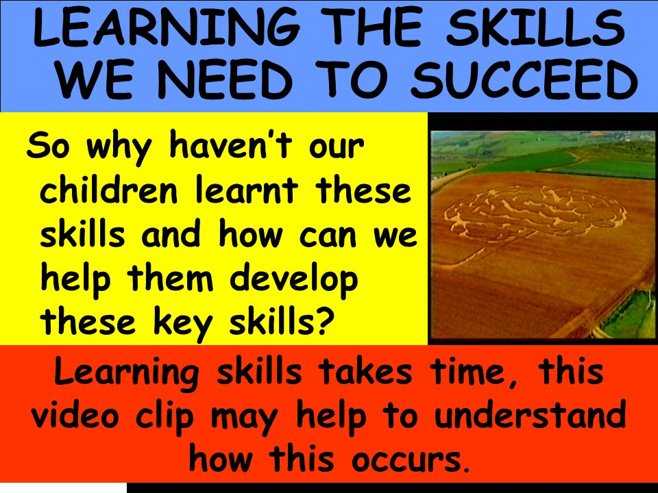 LEARNING THE SKILLS WE NEED TO SUCCEED