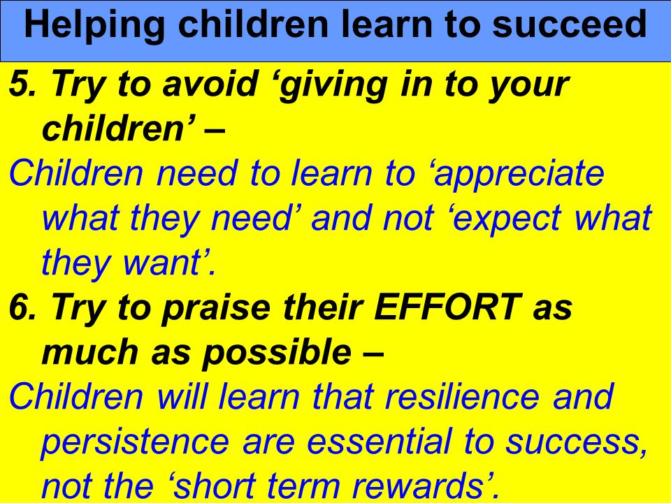 Helping children learn to succeed