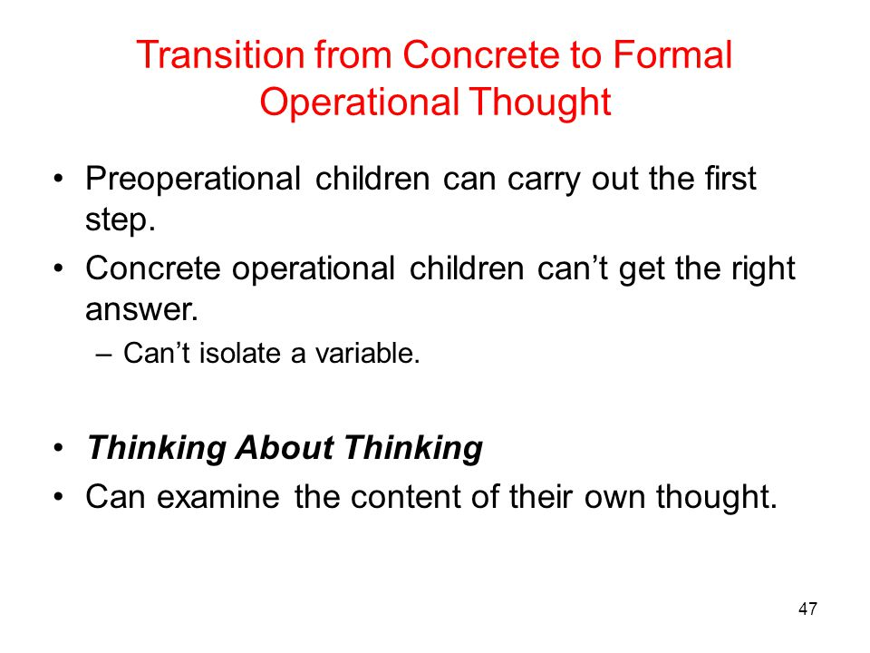 what is concrete operational thought