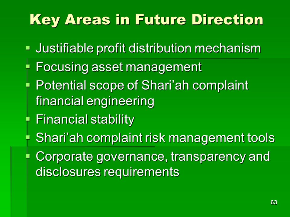 Key Areas in Future Direction