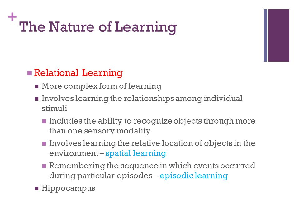 The Nature of Learning Relational Learning