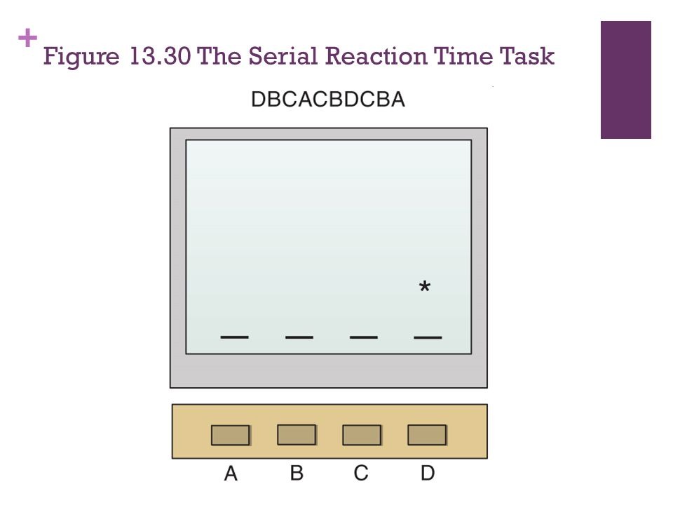 Figure 13.30 The Serial Reaction Time Task