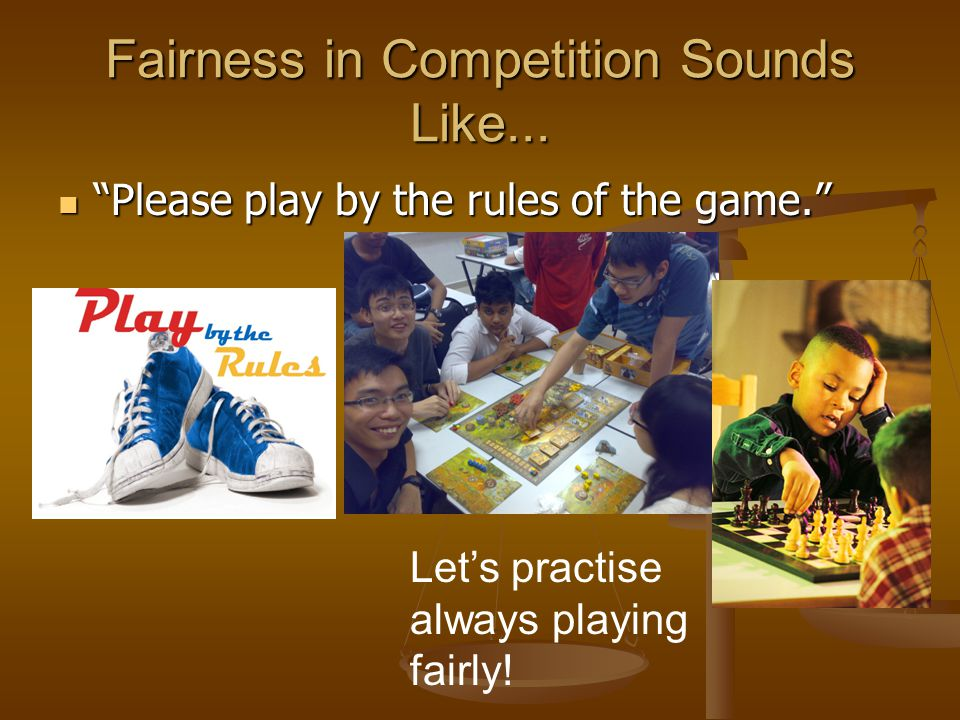 Fairness in Competition Sounds Like...