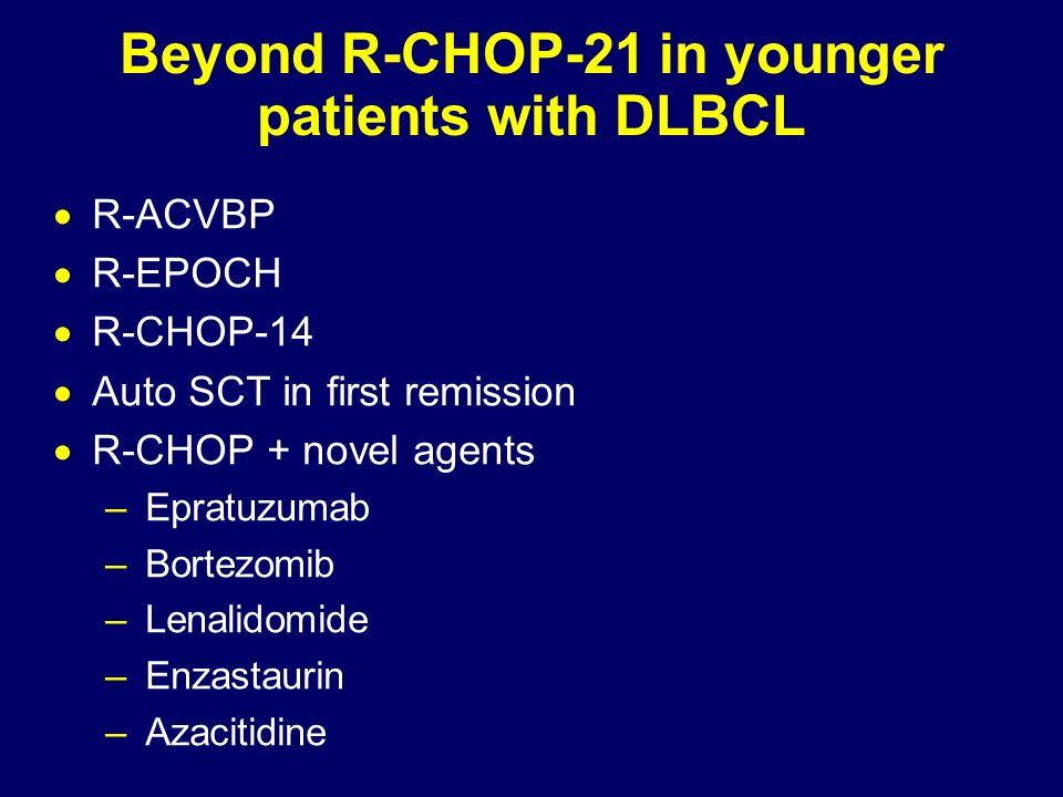 Beyond R-CHOP-21 in younger patients with DLBCL