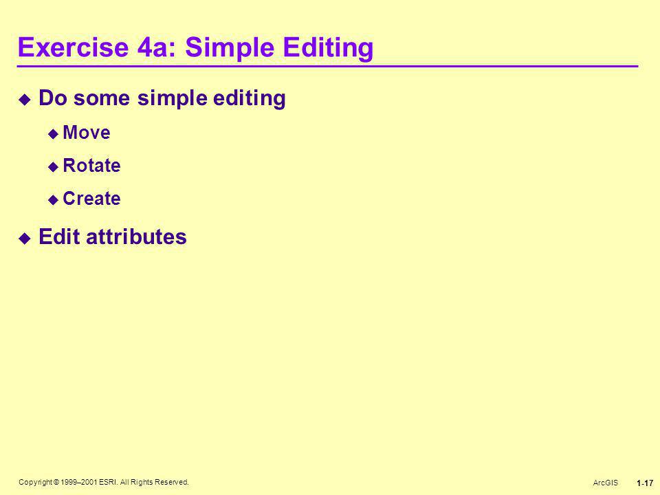 Exercise 4a: Simple Editing