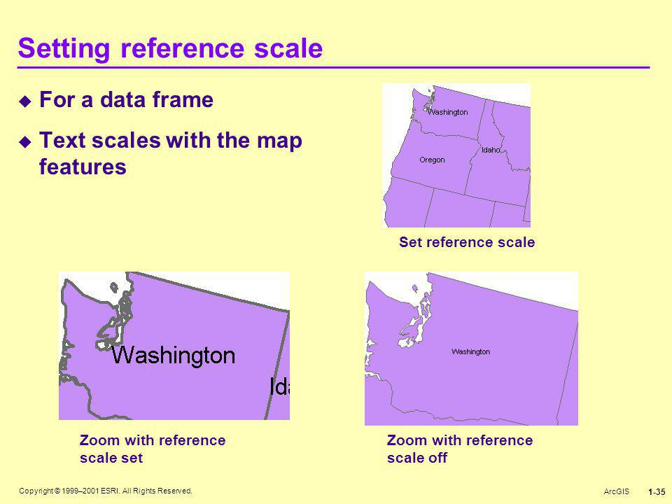 Setting reference scale