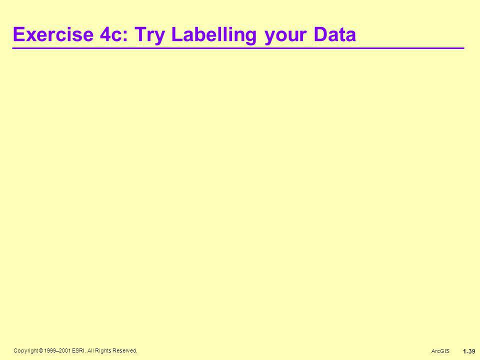 Exercise 4c: Try Labelling your Data