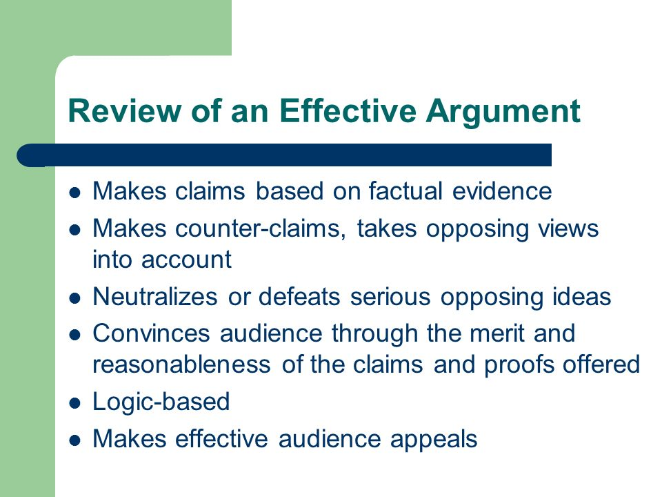 Review of an Effective Argument