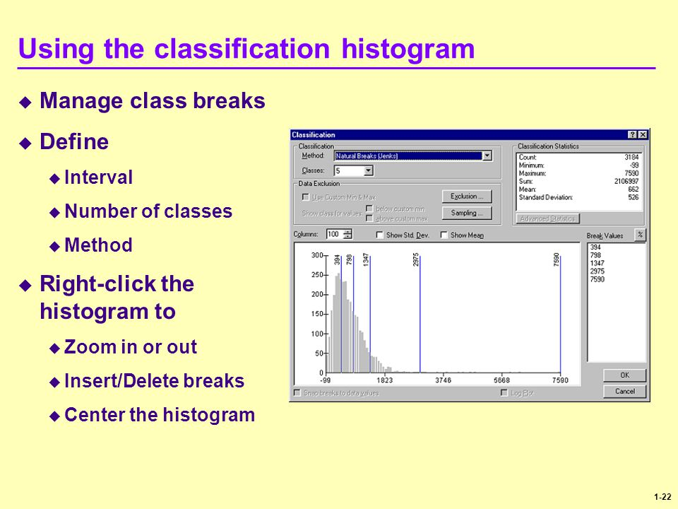 Using the classification histogram