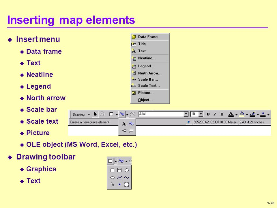 Inserting map elements