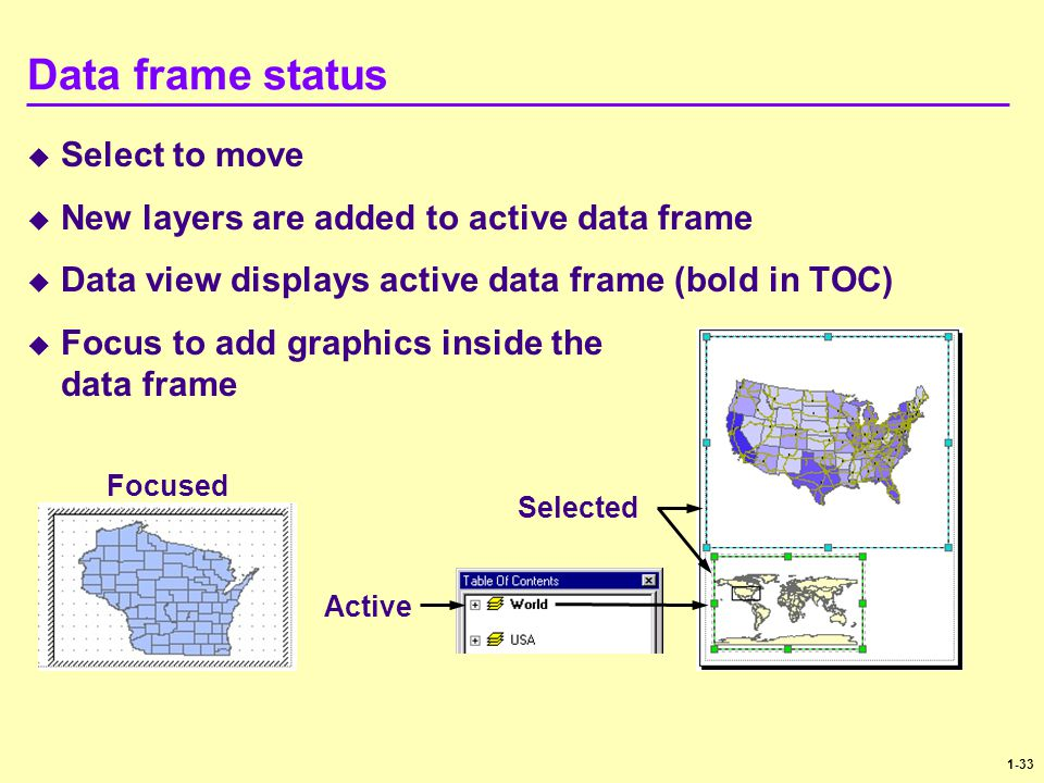 Data frame status Select to move