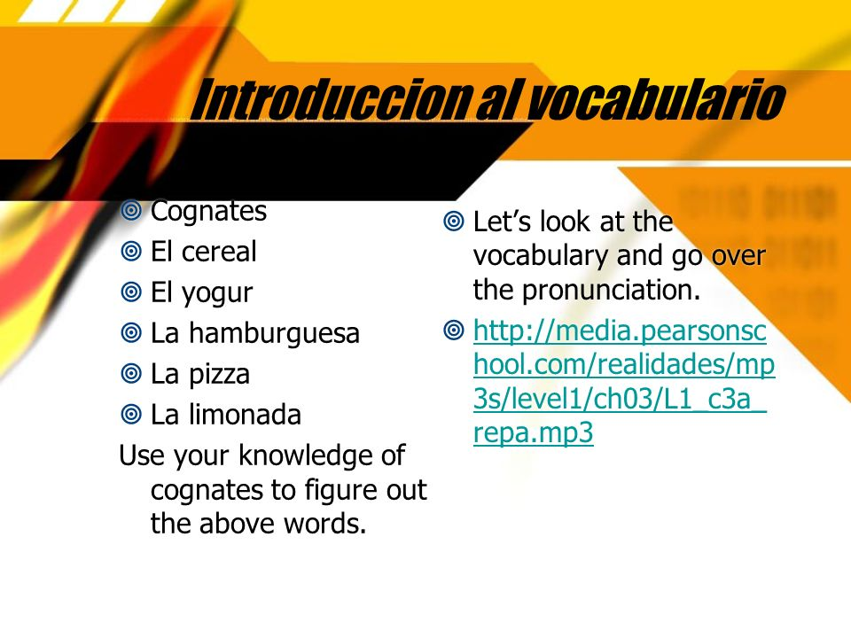Introduccion al vocabulario