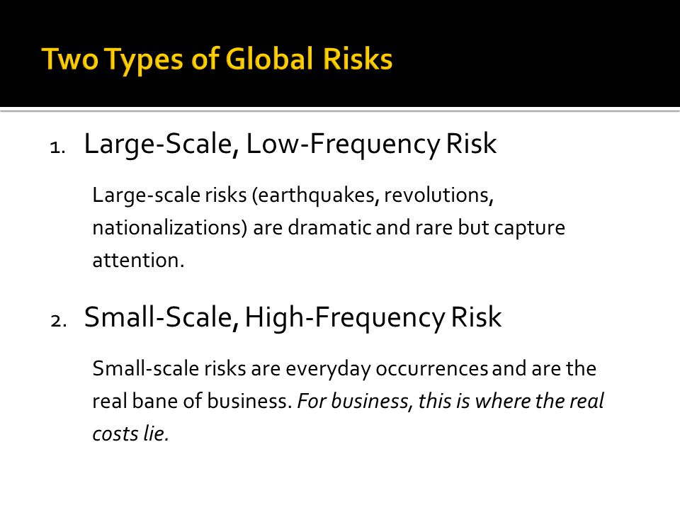 Two Types of Global Risks