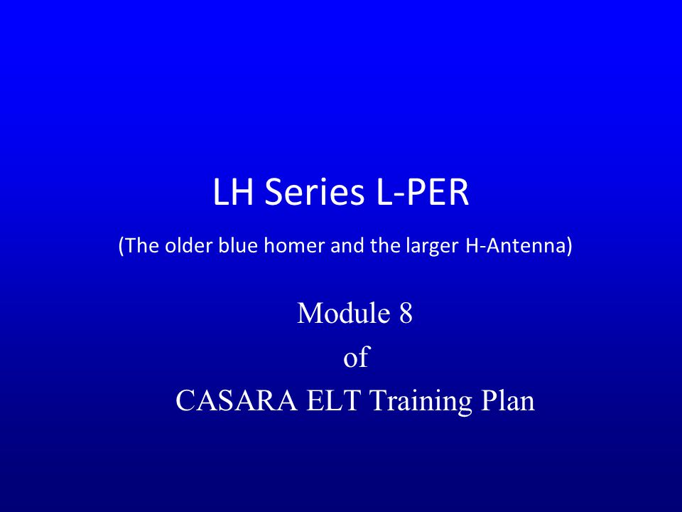 LH Series L-PER (The older blue homer and the larger H-Antenna)