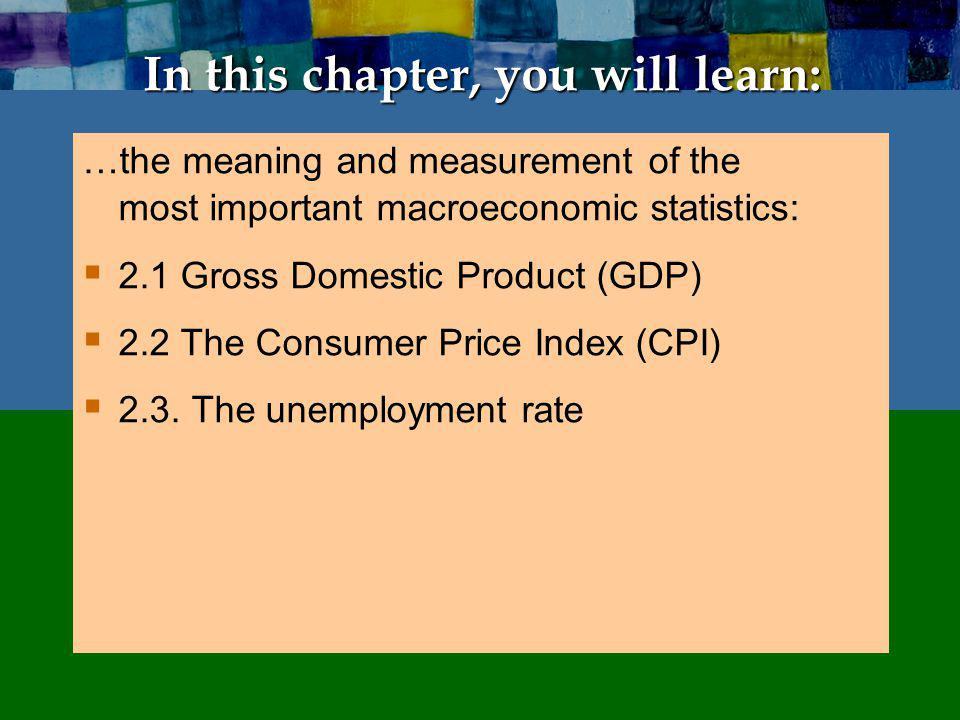 2.1 Gross Domestic Product: Expenditure and Income