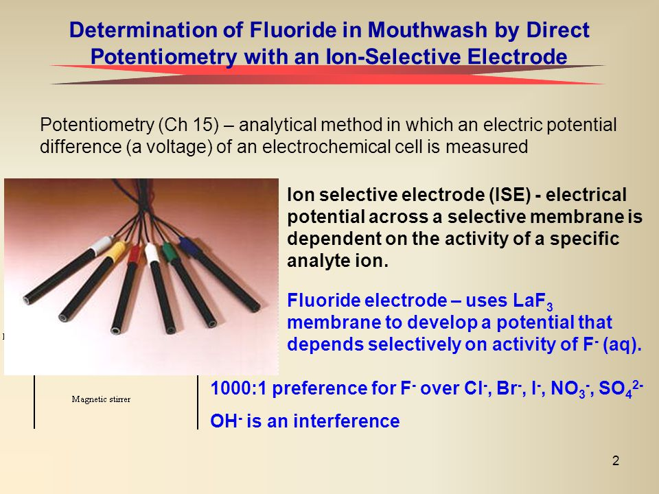 Determination of Fluoride in Mouthwash by Direct Potentiometry with an Ion-Selective Electrode