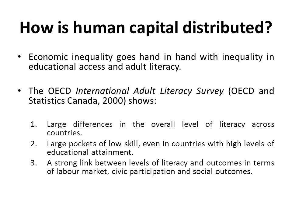 How is human capital distributed