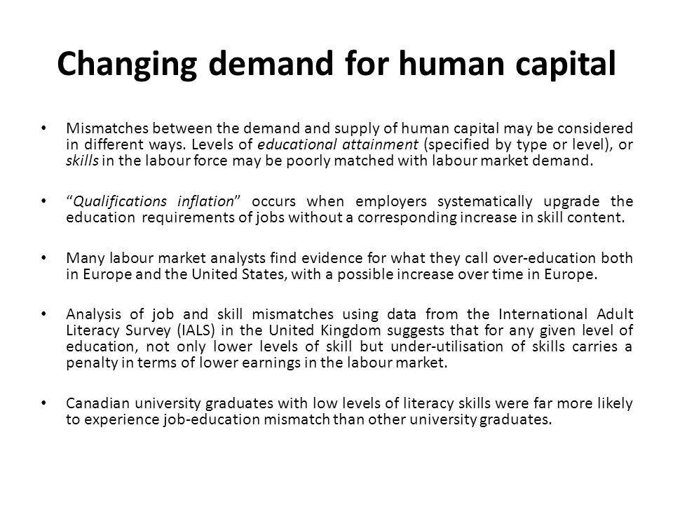 Changing demand for human capital