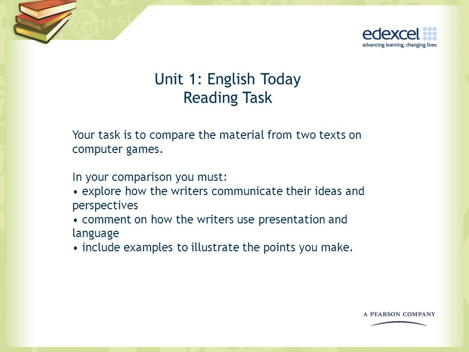 Unit 1: English Today Reading Task