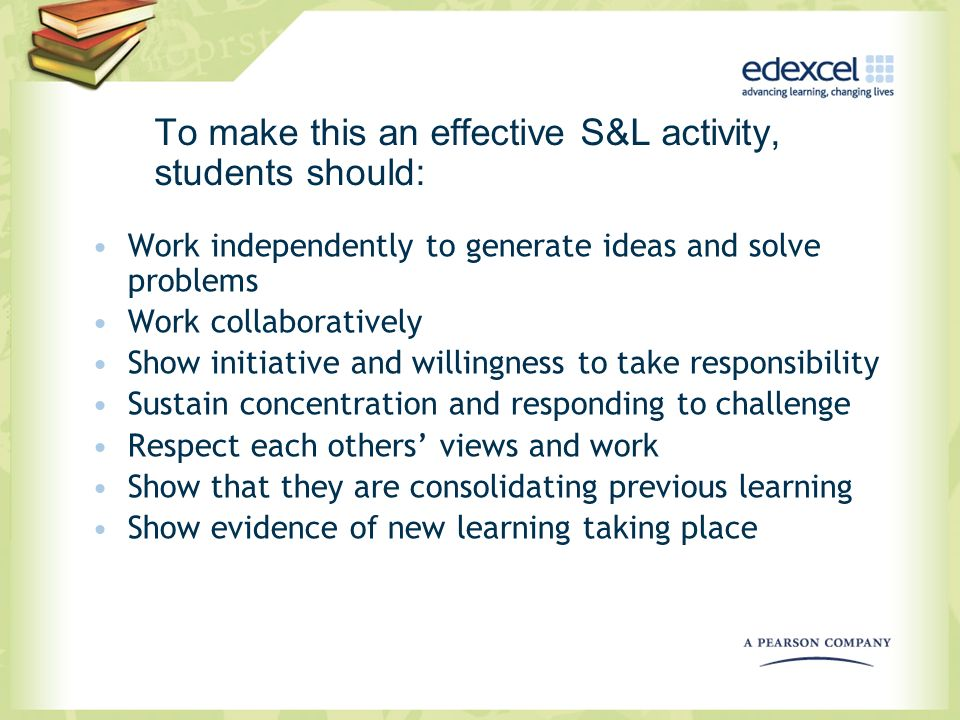 To make this an effective S&L activity, students should: