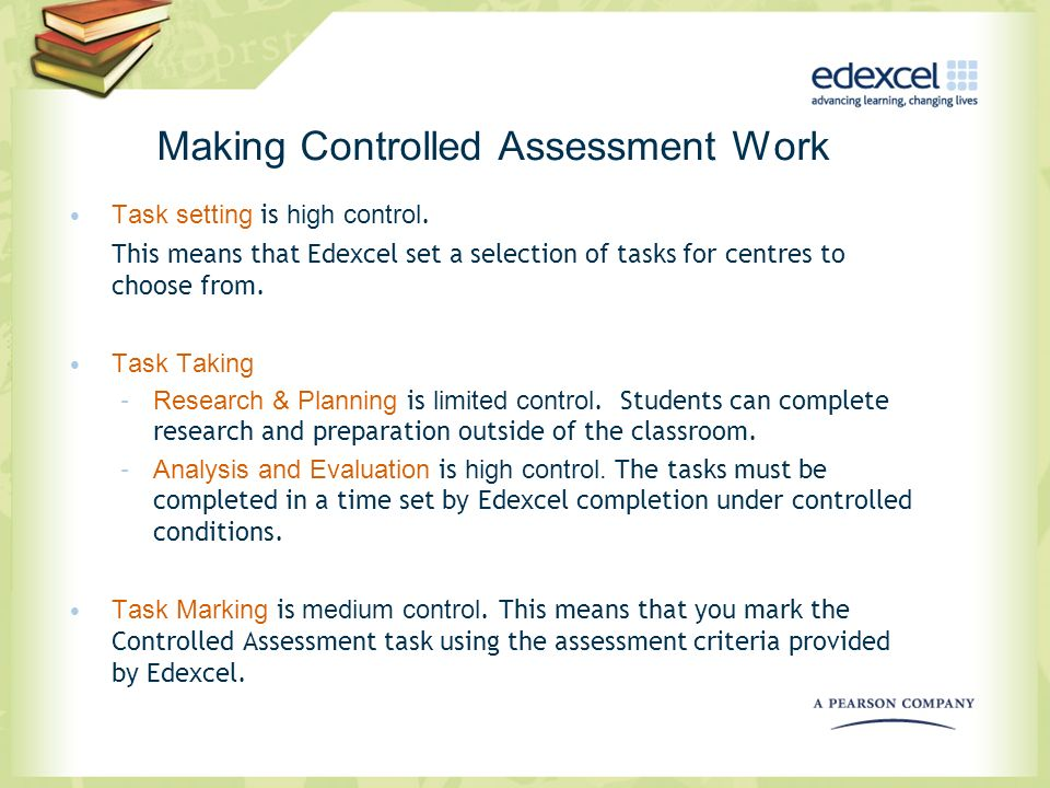 Making Controlled Assessment Work