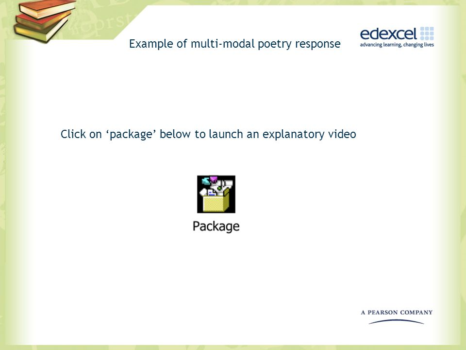 Example of multi-modal poetry response