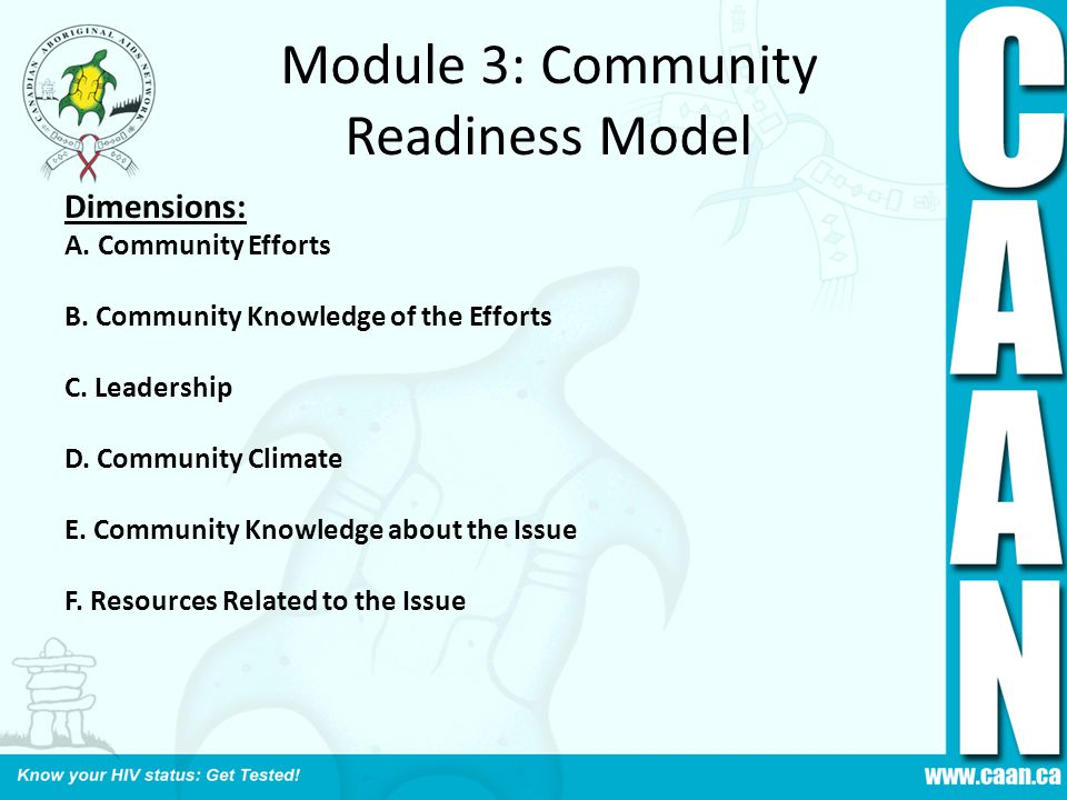Module 3: Community Readiness Model