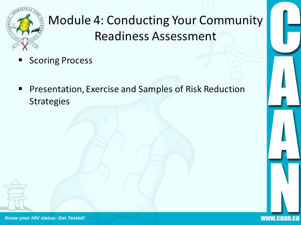 Module 4: Conducting Your Community Readiness Assessment