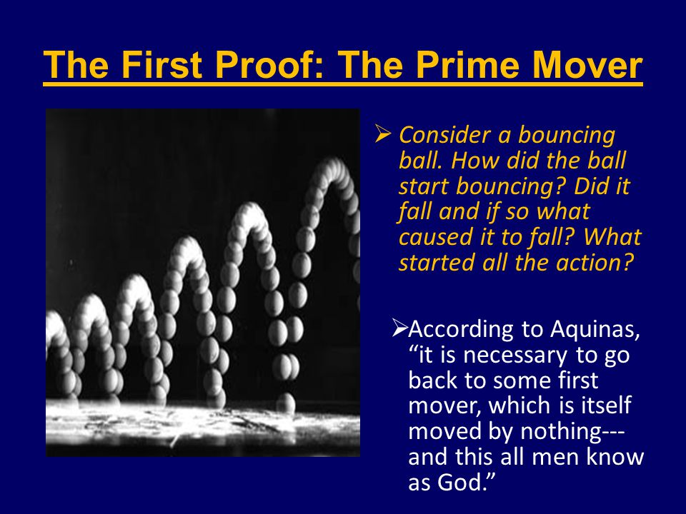 The First Proof: The Prime Mover