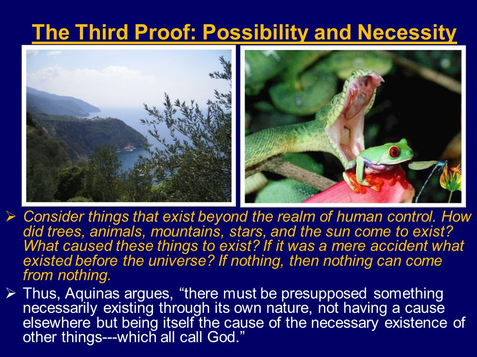 The Third Proof: Possibility and Necessity