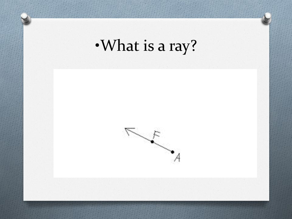 •What is a ray