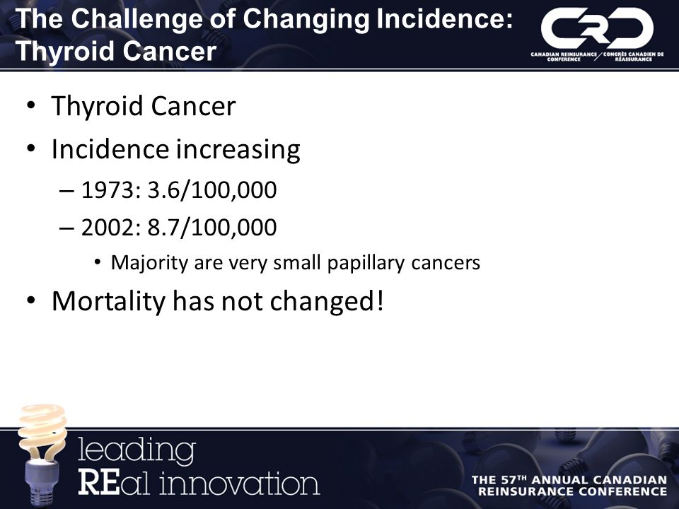 The Challenge of Changing Incidence: Thyroid Cancer