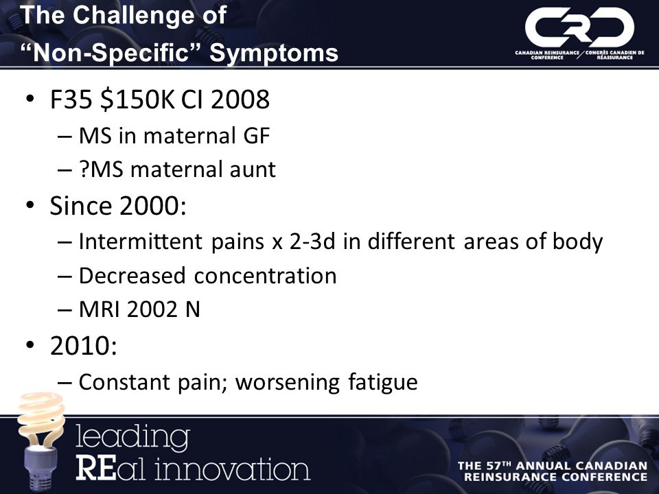 The Challenge of Non-Specific Symptoms