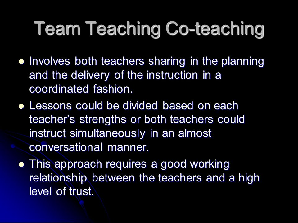 Team Teaching Co-teaching
