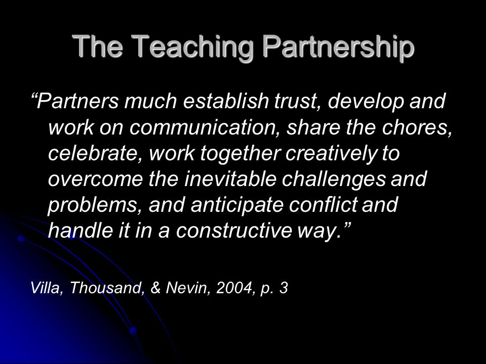 The Teaching Partnership