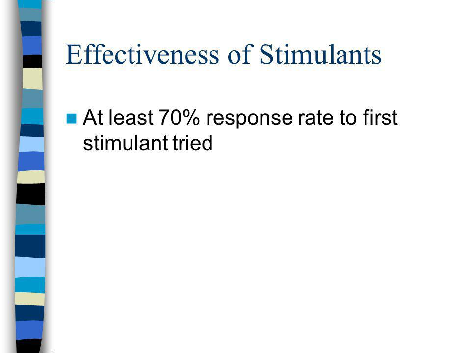 Effectiveness of Stimulants