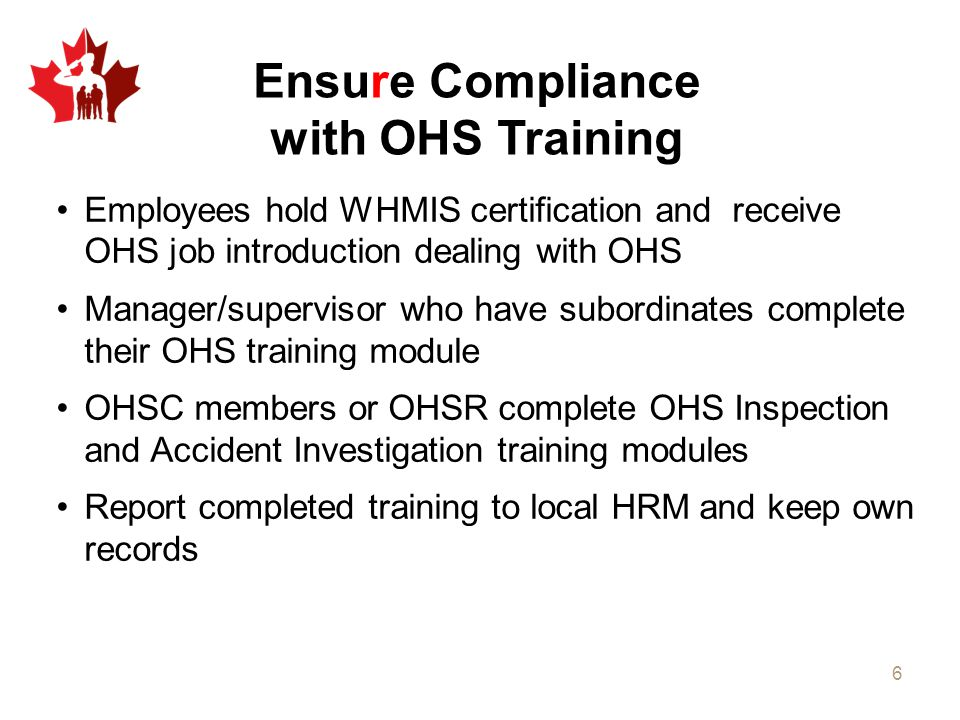 Ensure Compliance with OHS Training