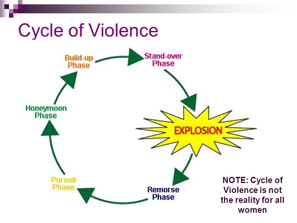 NOTE: Cycle of Violence is not the reality for all women