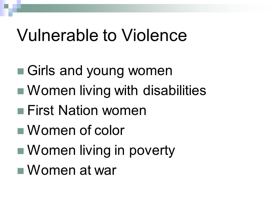 Vulnerable to Violence