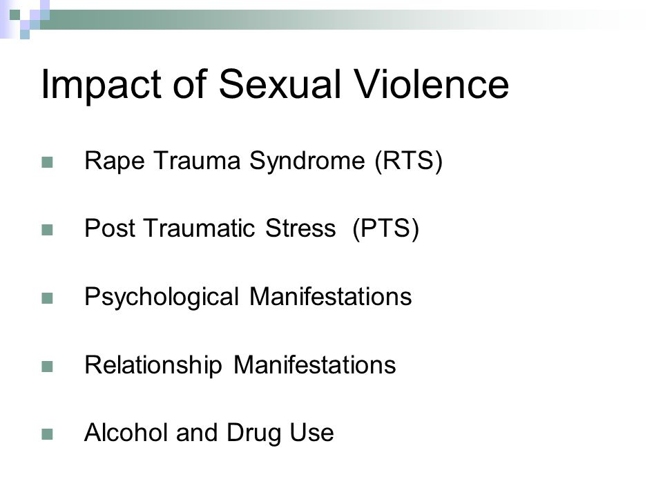 Impact of Sexual Violence