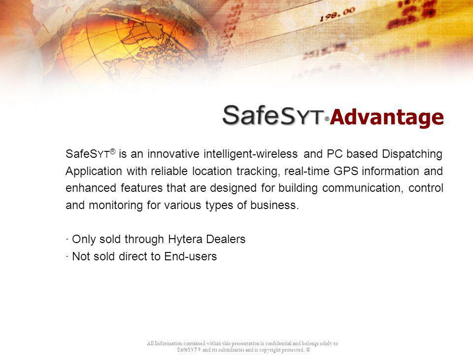Advantage SafeSyt® is an innovative intelligent-wireless and PC based Dispatching.