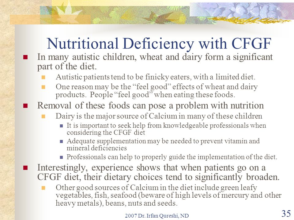 Nutritional Deficiency with CFGF